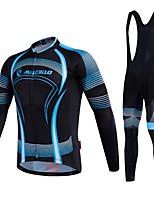 MALCIKLO® Hombres Mangas largas BicicletaTranspirable / Secado rápido / Cremallera delantera / Listo para vestir / Alta transpirabilidad