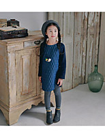 Girl's Casual/Daily Solid Dress / Overall & JumpsuitCotton Winter / Fall Black