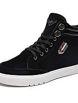 Men's Bootie PU Party & Evening / Casual Flat Heel Lace-up Black / White Walking EU39-43