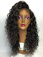 8a pizzo pieno parrucche dei capelli umani per le donne parrucca 130% della densità brasiliano riccio crespo dei capelli umani con i