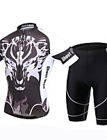 XINTOWN® Cycling Jersey with Shorts Men's Short Sleeve Bike Breathable / Quick Dry / Ultraviolet Resistant / 3D Pad / Sweat-wickingJersey