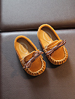 Girl's Loafers & Slip-Ons Fall Flats Leather Casual Flat Heel Others Black / Blue / Yellow Others