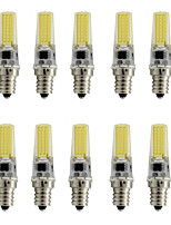 Dimmable E12 Cob Led Lamp Light Spotlight 9W Small Silicone 350Lm AC110V - 120V Warm/Cool White (10 Pieces)