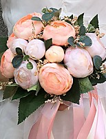 Wedding Flowers Round Peonies Bouquets Wedding / Party/ Evening Satin 8.66(Approx.22cm)
