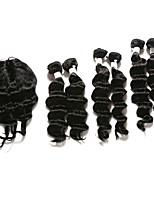 7 предметов Крупные кудри Ткет человеческих волос Индийские волосы Ткет человеческих волос Крупные кудри