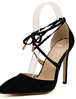 Women's Shoes Fleece Lace-up Heels/Pumps Ankle Strap Hollow-out Pointed Toe Stiletto Heels Office&Career Shoes