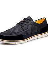 Черный Коричневый Зеленый-Мужской-Повседневный-Полиуретан-На плоской подошве-Удобная обувь-Кеды
