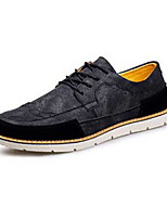 Men's Sneakers Spring / Fall Comfort PU Casual Flat Heel  Black / Brown / Green Sneaker