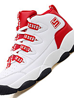 Women's Athletic Shoes Comfort Synthetic Athletic Flat Heel Lace-up Red / Black Basketball / Sneaker