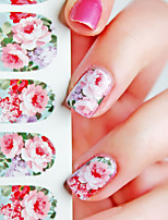 1 Nail Sticker Art Autocollants de transfert de l'eau Fleur Maquillage cosmétique Nail Art Design