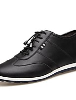 Men's Sneakers Spring / Summer / Fall / Winter Closed Toe Leather Outdoor Flat Heel Lace-up Black / Brown / White Others