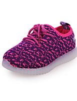 Unisex Sneakers Spring / Fall Comfort PU Casual Flat Heel LED /Black / Blue / Red Sneaker