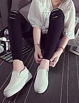 Белый-Женский-На каждый день-Полотно-На плоской подошве-Удобная обувь-Мокасины и Свитер