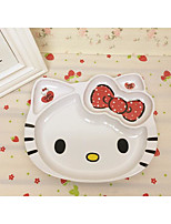 Hello Kitty Kt Cat Head Lovely Cutlery Wholesale Children'S Fine Melamine Plate Melamine Plate