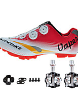 Cycling Shoes Unisex Outdoor / Mountain Bike Sneakers Damping / Cushioning White / Red-sidebike
