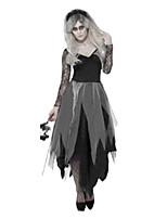 Costumes de Cosplay / Costume de Soirée Esprit Fête / Célébration Déguisement Halloween Noir Couleur Pleine Robe / Plus d'accessoires