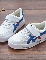 Boy's Sneakers Spring / Fall Comfort Athletic Flat Heel Magic Tape White Sneaker