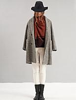 sólido blanco primavera / otoño pantssimple flacos de las mujeres rizhuo