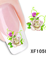 Manicure Simulation Flower Nail Stickers Watermark