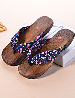 Women's Slippers & Flip-Flops Summer Slingback Cotton Casual Flat Heel Others Black / Blue / Pink / Red / Fuchsia Others