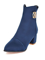 Women's Boots Spring / Fall / Winter Fashion Boots / Combat Boots Leatherette/ Casual Chunky Heel OthersBlack / Blue /