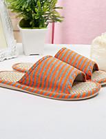 Unisex-Slippers & Flip-Flops-Lässig-Leinen-Flacher Absatz-Pantoffel-Blau / Braun / Gelb / Lila / Grau / Orange