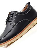 גברים-נעלי אוקספורד-עור-נוחות-שחור / חום / אדום-קז'ואל-עקב שטוח