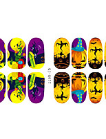 14Pcs/Sheet Nail Sticker Art Autocollants 3D pour ongles Bande dessinée / Adorable Maquillage cosmétique Nail Art Design