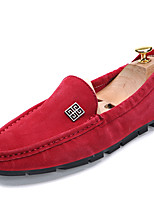 Men's Flats  Comfort / Round Toe / Closed Toe / Flats Casual Flat Heel OthersBlue / Brown / Red / Gray