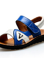 Girl's Sandals Spring / Summer / Fall Sandals PU Outdoor / Casual Flat Heel Bowknot Blue / Brown Walking