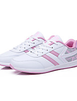Women's Running Athletic Shoes Spring / Fall Comfort Fabric Casual Flat Heel  Pink / Gray Sneaker