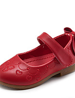 Girl's Flats Spring / Summer / Fall / Winter Comfort Leather Casual Low Heel Hook & Loop Pink / Red / White