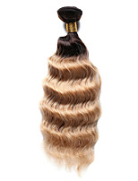 1PC TRES JOLIE Deep Wave 10-18Inch Color #T4/27 Ombre Brown Blonde Human Hair Weaves