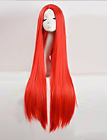 Cos Wig Red in Long Straight Hair Wigs 100cm Long Wigs