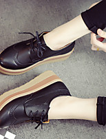 Women's Flats Spring / Summer / Fall / Winter Comfort Leather Casual Low Heel Others Black / Brown Others