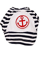 Navy Style Blue/Red Srtipe Design Sport Pets Cap with Pets Dogs(Assorted Sizes)