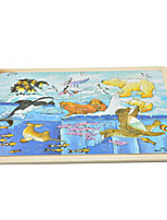 Children Wooden Plane Jigsaw Puzzle Giraffe Educational Cartoon Toy 9pcs