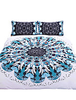 BeddingOutlet Swirl Bedding Set Blue Red Twill Bohemian Bedclothes Multi Sizes 3pcs Stylish Duvet Cover