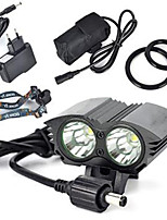Bike Lights / Bike Glow Lights / Safety Lights LED Cree XM-L T6 Cycling Super Light 18650 / Lithium Battery 6000 Lumens BatteryNatural