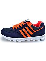 Unisex-Sneaker-Lässig-Leder-Flacher Absatz-Komfort-Grün / Weiß / Orange