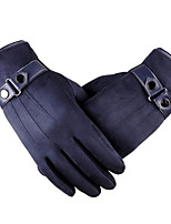 Leather Touch Screen Gloves Outdoor Sports Electric Motorcycle Imitation Leather Gloves