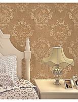 Дамаск / В полоску / Ар деко / 3D Обои Для дома Современный Облицовка стен , Нетканый материал материал Клей требуется обои , номер