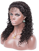 Factory Price No shedding No tangle Curly Color 1B Light Brown Swiss Lace 130% density Human Hair Lace Front Wig