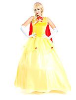 Costumes de Cosplay / Costume de Soirée Reine Fête / Célébration Déguisement Halloween Rouge / Jaune Couleur PleineRobe / Plus