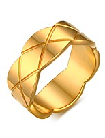 Ring Circular Titanium Steel Circle Gold Jewelry For Daily 1pc