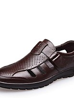 Men's Loafers & Slip-Ons Summer Leather Casual Flat Heel Others Black Brown Others