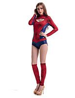 Costumes Super Heroes Halloween Red Patchwork Terylene Leotard/Onesie / More Accessories