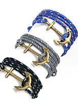 Beadia 1Pc Antique Brass Anchor Retro Multilayer Risers Bracelet