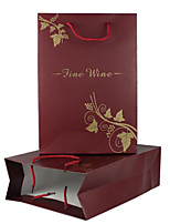 Conventional Duo Pack Wine Gift Bag Paper Bag Wine Gift Boxes Of High-Quality Wine 27*12*38