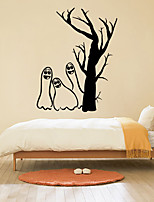 Personality Halloween Series Apparition  Tree Wall Stickers Bedroom Living Room Decorative Sticker Removable Waterproof